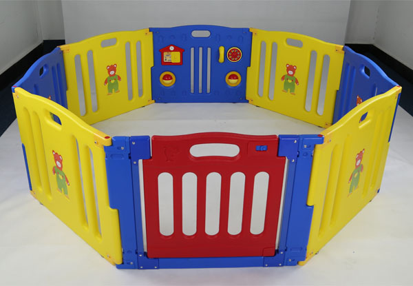 8 Panels Anti Crack Colorful Plastic Baby Play Fence Wholesale Kid