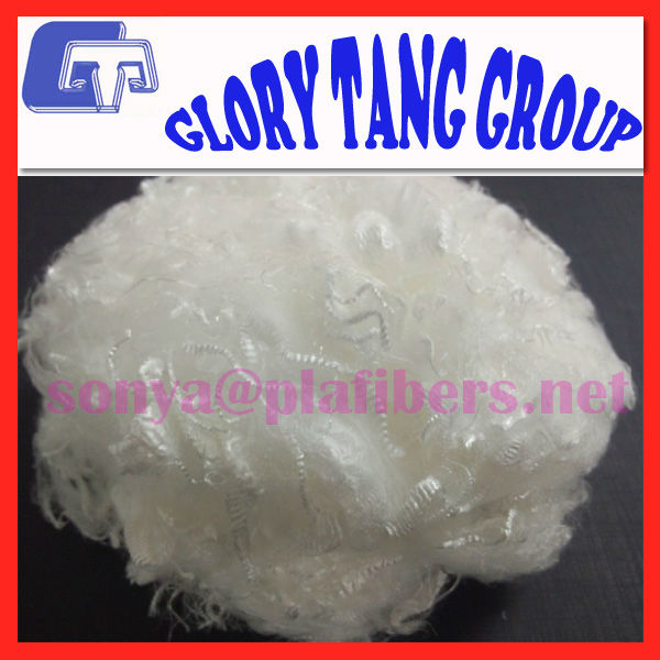 0.5d-0.9d pla superfine soft fiber, ecological green fiber
