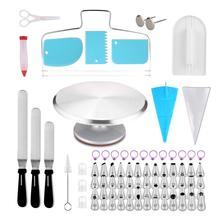 2019 new cake decorating gereedschap set en cake turntable decorating levert met <span class=keywords><strong>bakken</strong></span> nozzle <span class=keywords><strong>bakken</strong></span> tools cake decorating <span class=keywords><strong>kit</strong></span>