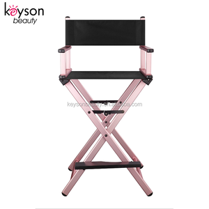 Keyson Factory Price Cheap Pink Frame Director Barber Chair for Makeup