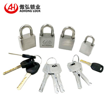 AJF high security heavy duty 40mm stainless steel padlock with 2 brass keys