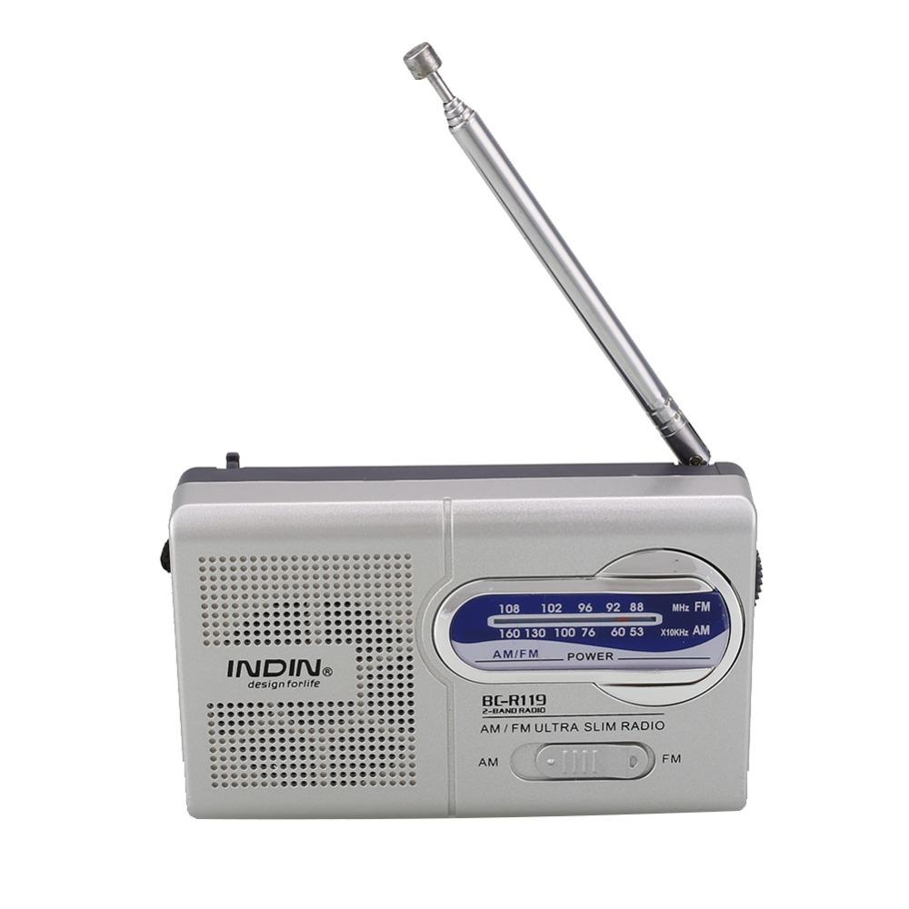 Mini Portable Pocket AM/FM Radio 2 Band Telescopic Antenna Speaker Radio World Receiver