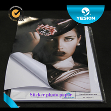 Yesion Inkjet Printing Glossy Sticker Photo Paper/ Self adhesive Photo Paper 115gsm~150gsm