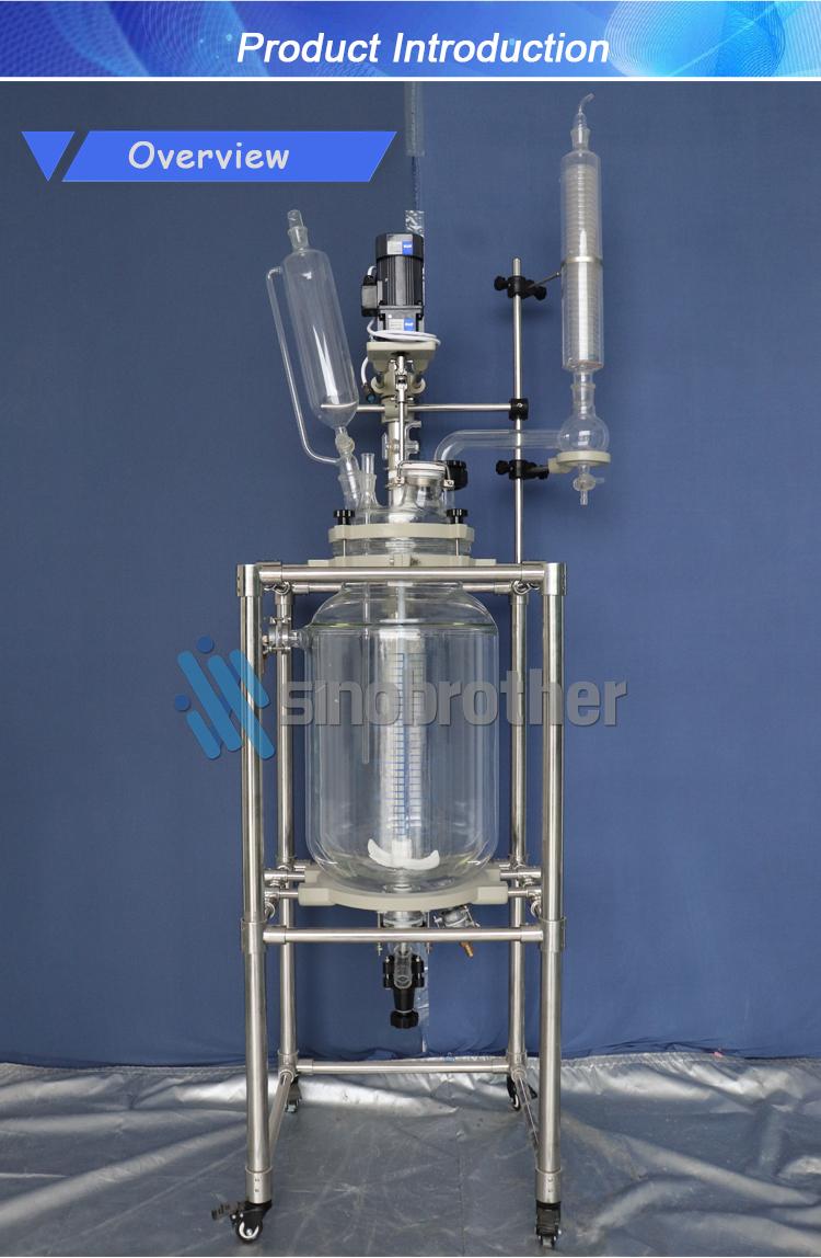 20L chimica ad alta pressione di miscelazione rivestito di vetro reattori