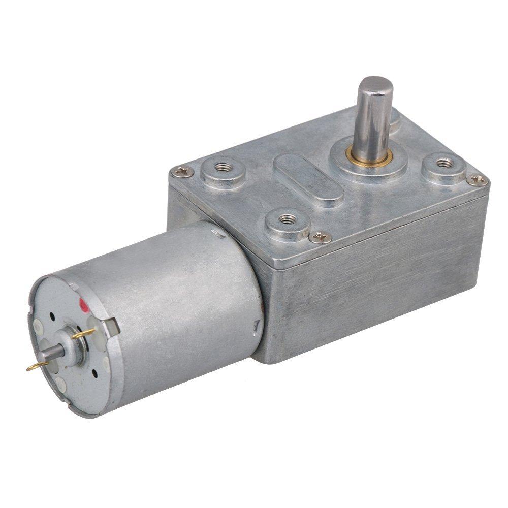 BQLZR DC 12V 120RPM Square High Torque Turbo Worm Geared Motor Right Angle Gear Motor