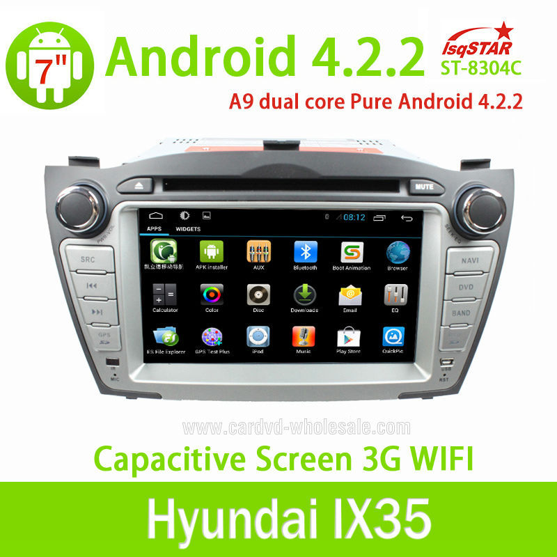 China factory central multimedia Capacitive Android 4.2 Hyundai IX35 (2009-2012) Car auto radio dvd gps navi with OBD 3G WiFi BT