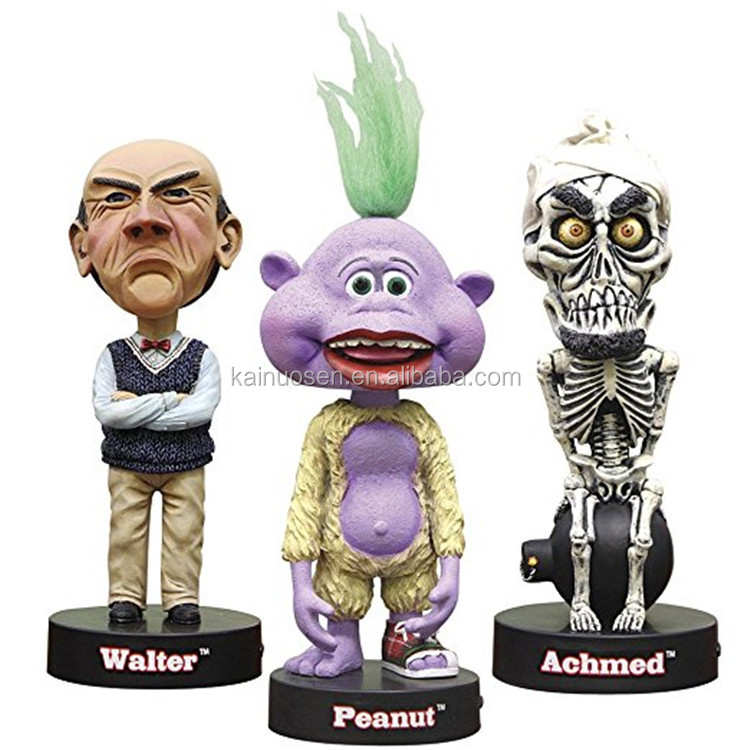 Personalized Handmade Color Painted Resin Talking Bobblehead Toys