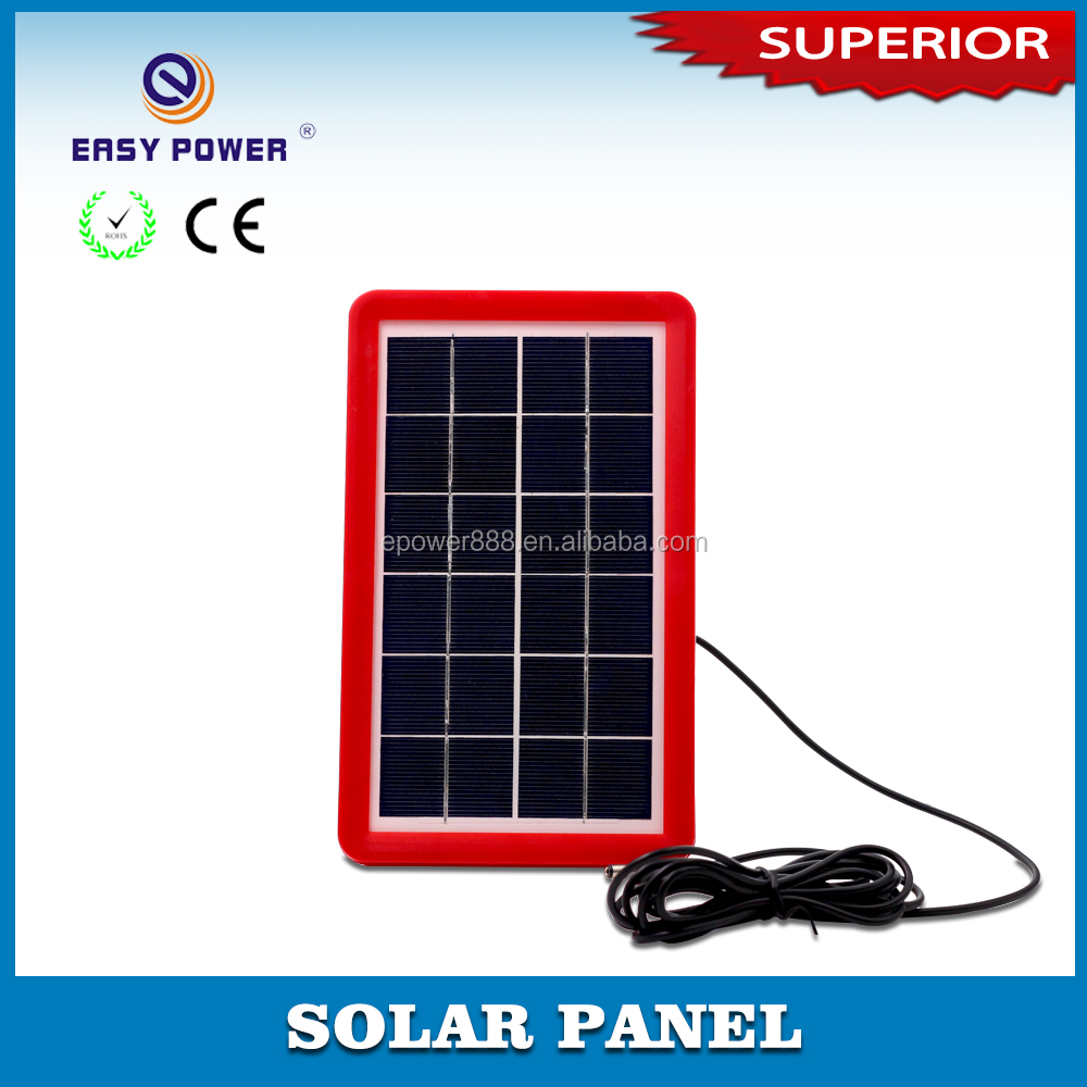 Solar cells 6V3W High Efficiency Grade A solar panel charge for 4v battery products