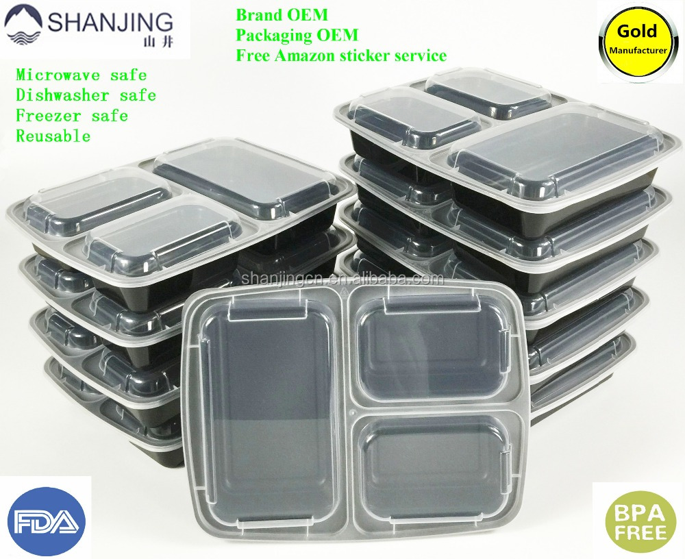 Plastic Food storage containers BPA Free New Mould Better Leak Resistant bento box lunch 3 for kids and adults