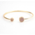 Gold Plated Druzy Natural Stone Women Men Circle Bracelet Babgle Cuff Jewelry