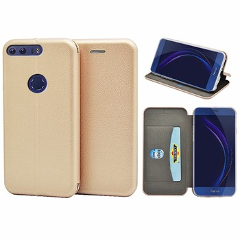 For Huawei Honour 8 case full curved PU leather wallet case