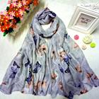Supplier bulk sold islamic modern head accessory muffler khimar ladys hijab print paisl viscose butterfly scarf