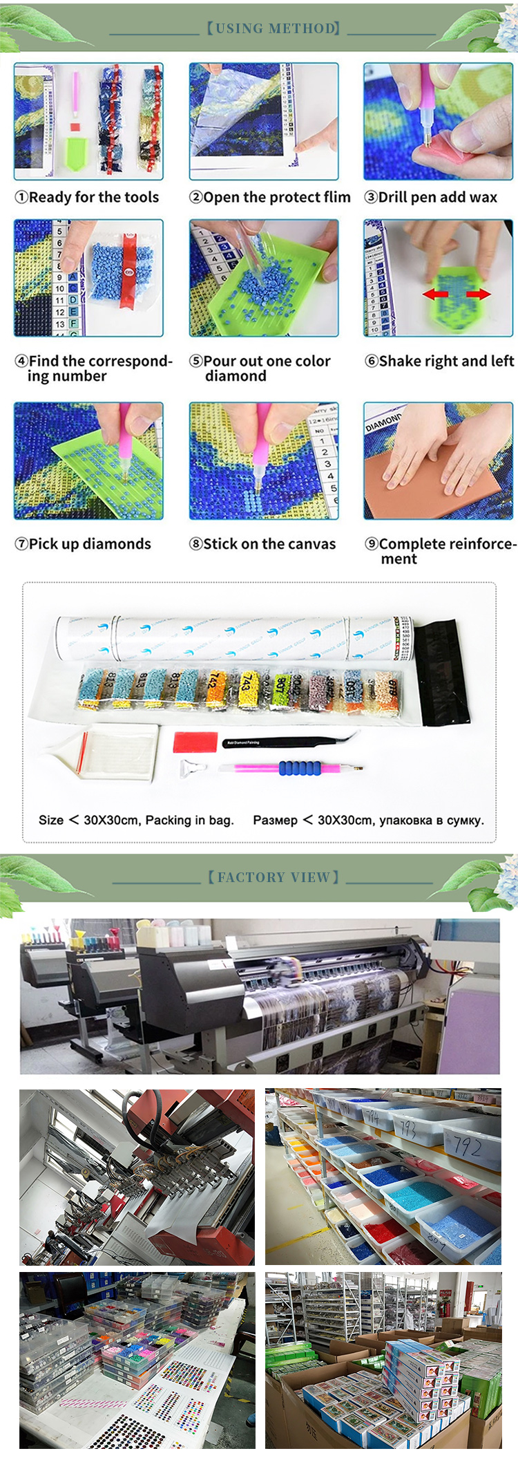 Wholesale decoration house artwork pattern pictures diy 5d diamond canvas painting