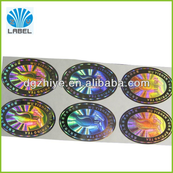 Hologram security sticker for counterfeit protection pharmaceutical medicine