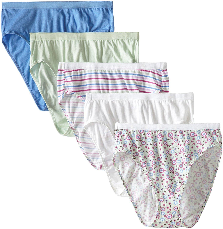 207015525d39 Fruit of the Loom Women's Plus Size Fit For Me 5 Pack Cotton Hi Cut Panties