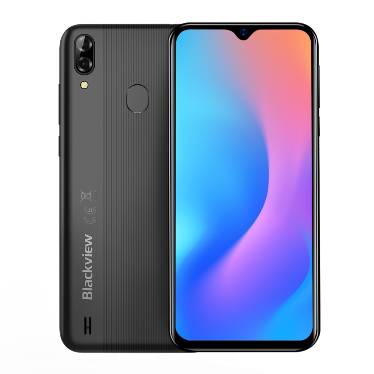 Dropshipping Blackview A60 Pro 3GB 16GB Waterdrop Dual Rear Cameras Face ID & Fingerprint Id 4080mAh 6.088 inch 4G smart Phone