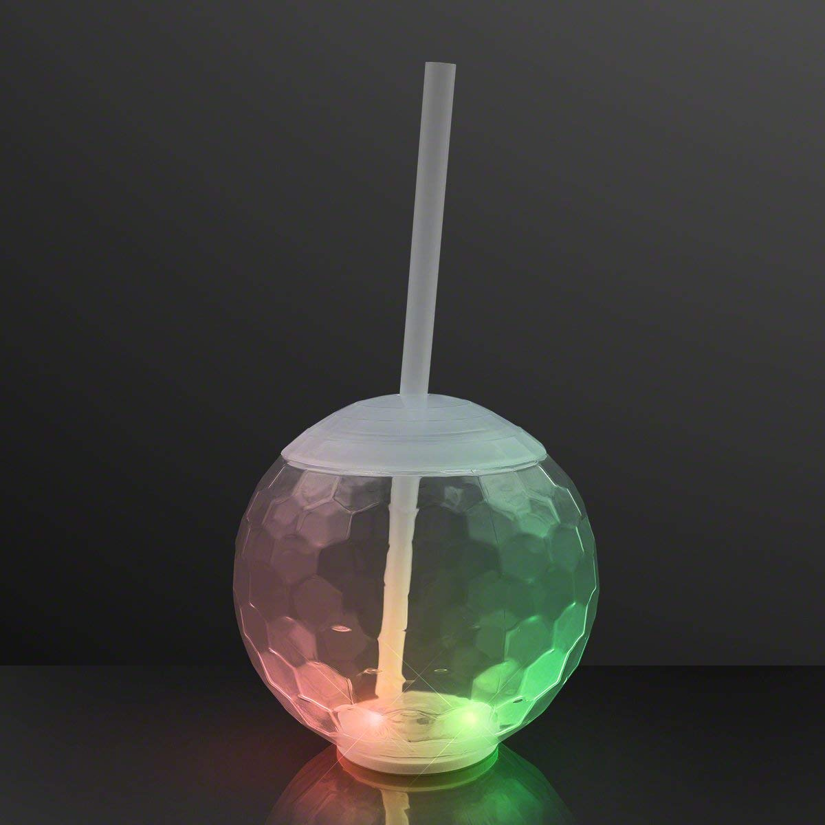 Multicolor LED Light Up To-Go Cup Disco Ball Tumbler