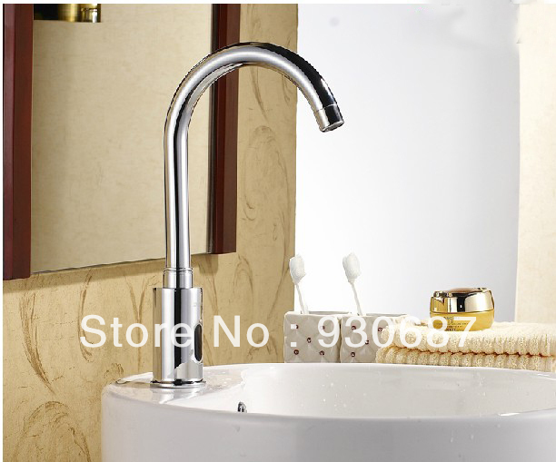 7 Faucet Finishes For Fabulous Bathrooms: NEW Chrome Brass Bathroom Sink Faucet Automatic Sensor
