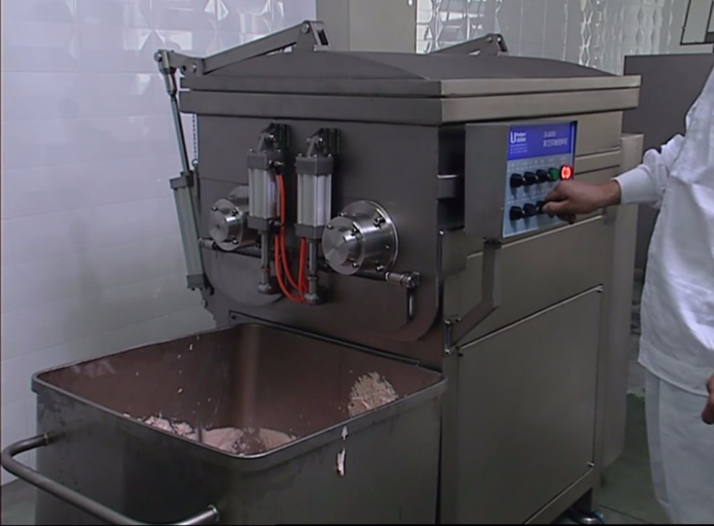 Large productivity commercial sausage vacuum meat mixer