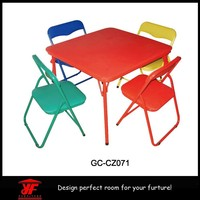 Colorful kids portable folding chair, stainless steel dining table designs