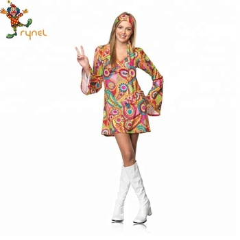 New Flower Power Printing Hippy Chick 60\'s 70\'s Womens Hippie Costume - Buy  Hippie Costume,70\'s Costume,60\'s Costume Product on Alibaba.com