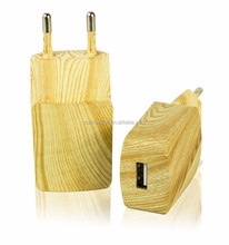 Sell Like Hot Cakes EU/US Plug 5V 2.1A Wooden Grain 1 USB Port Wall Charger for Smart Phone