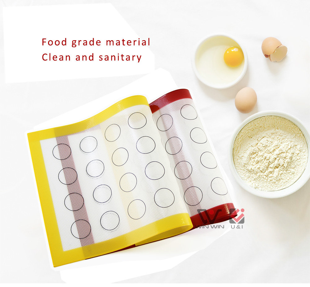New Product 2019 Yellow Red Silicone Macaron Baking Mat Non Stick Silicon Baking Sheet Reposteria Silicone Baking Mat
