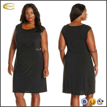 Ecoach The Models Of African Dress Black Sleeveless Casual Plus Size