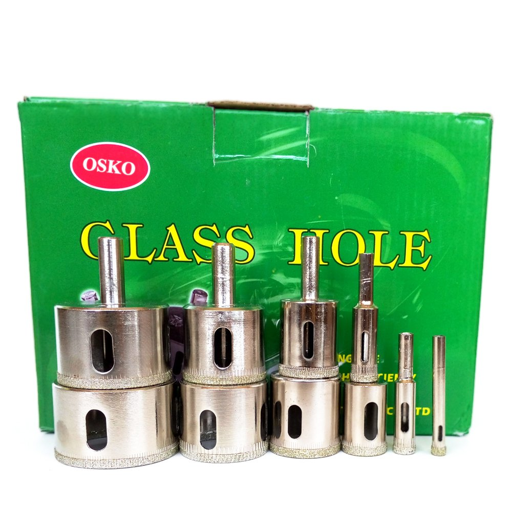 "Osko® LOT 10 Pcs SET Diamond Hole Saw Drill Bit Set 1/4"", 3/8"", 1/2"", 3/4"", 1"", 1 1/4"", 1 3/8"", 1 1/2"", 1 3/4"", 2"""