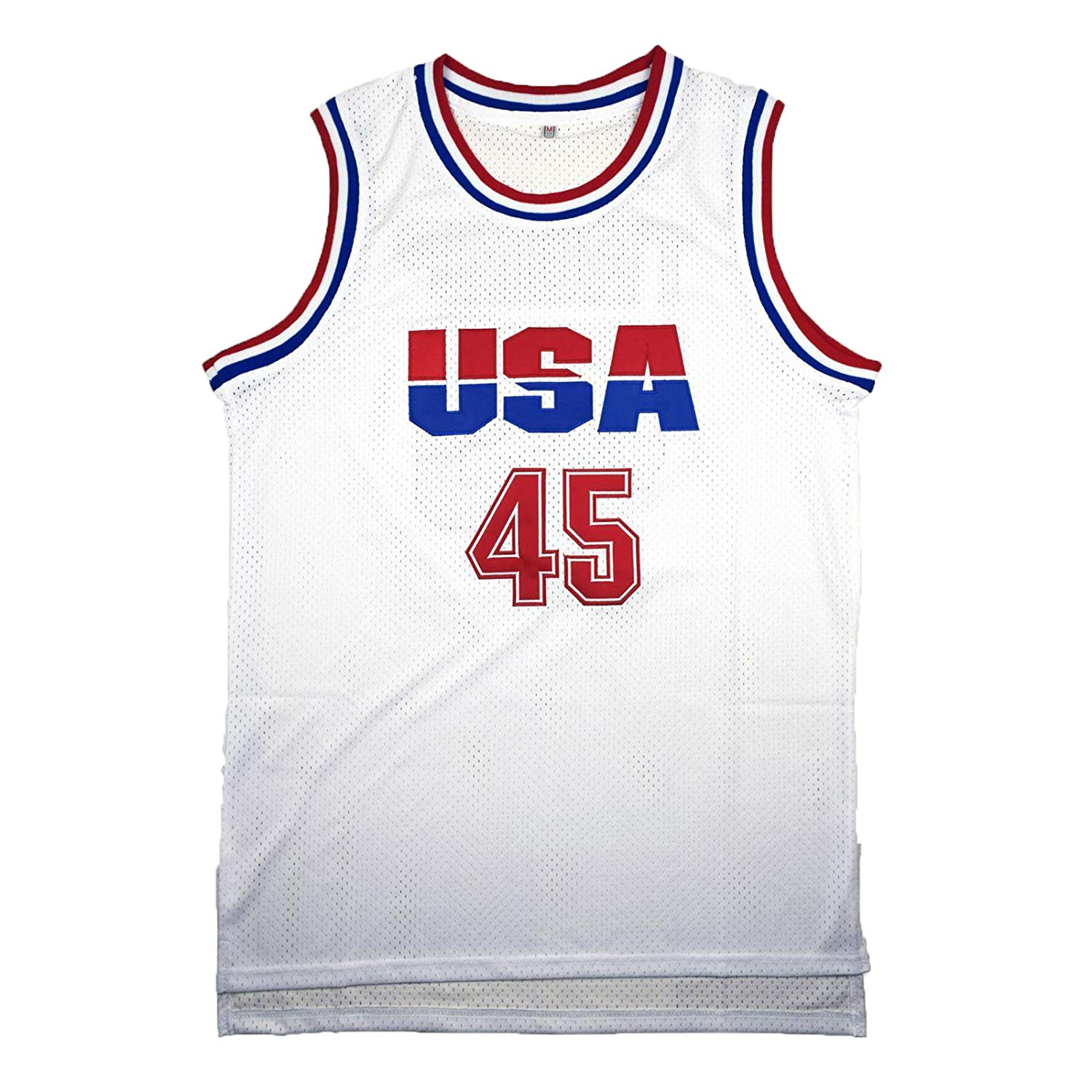 2f7df0e0389a Get Quotations · CoreSpot Men s Basketball Jersey  45 Trump USA White Color  Basketball Jersey
