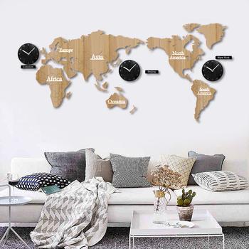 136 Cm Büyük Boy Harita Dünya Duvar Saati Modern Tasarım Ev Dekoratif Sessiz Kuvars Ahşap Saat Buy Harita Duvar Saatibüyük Duvar Saatiharita Dünya