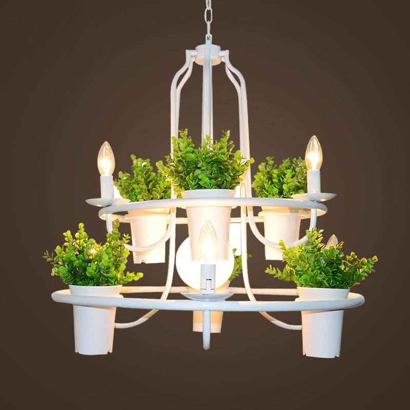 jardn de plantas de la lmpara colgante moderna nordic creativa iluminacin de la lmpara blanca sin