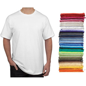 China wholesale classic tee polyester round neck blank white t shirts for men cotton plain t-shirt
