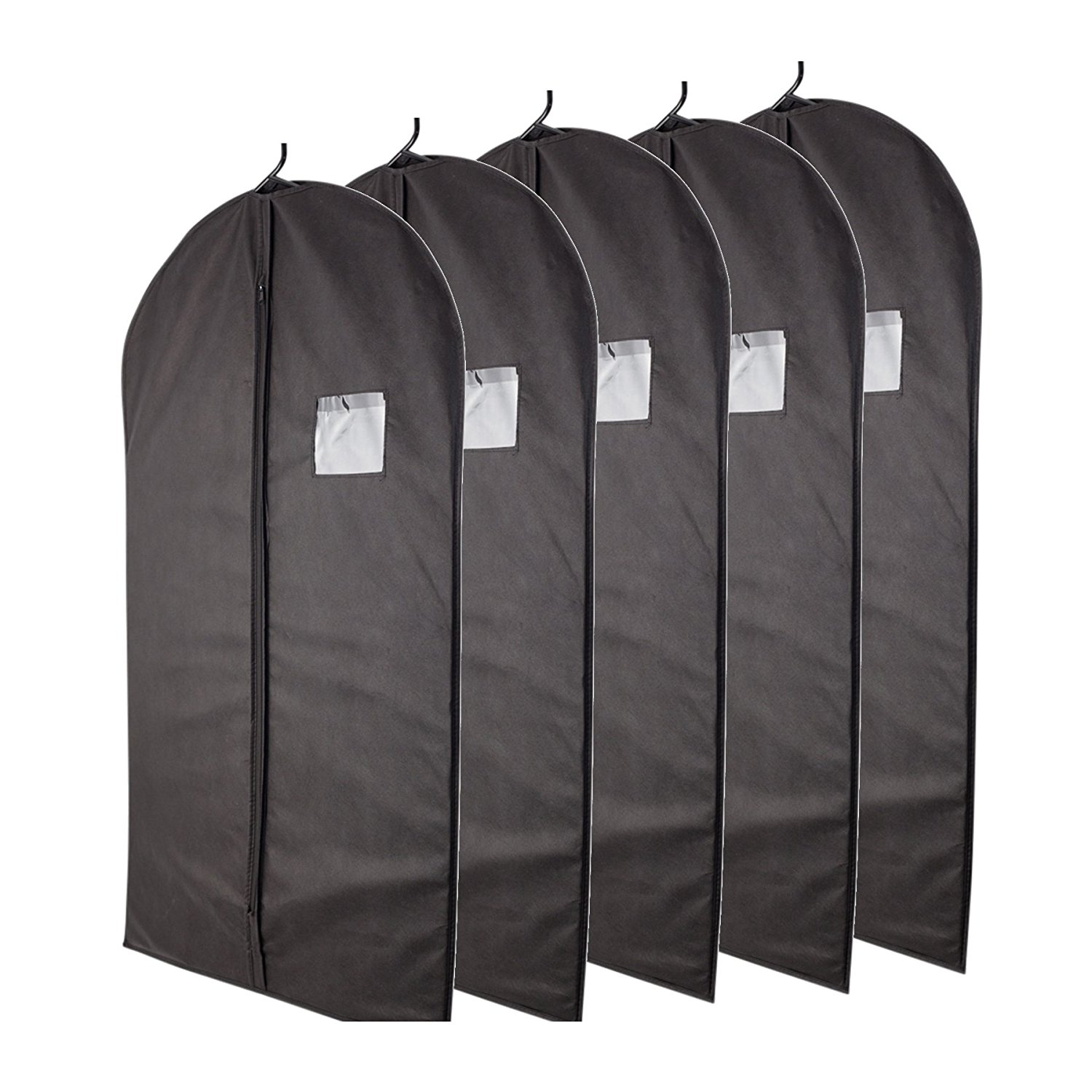 fancy non woven mens suit Travel Dust Cover Foldable garment bag with pockets