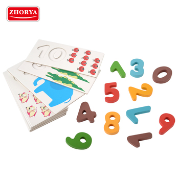 Zhorya wholesale 21pcs child early learning wooden educational math toys