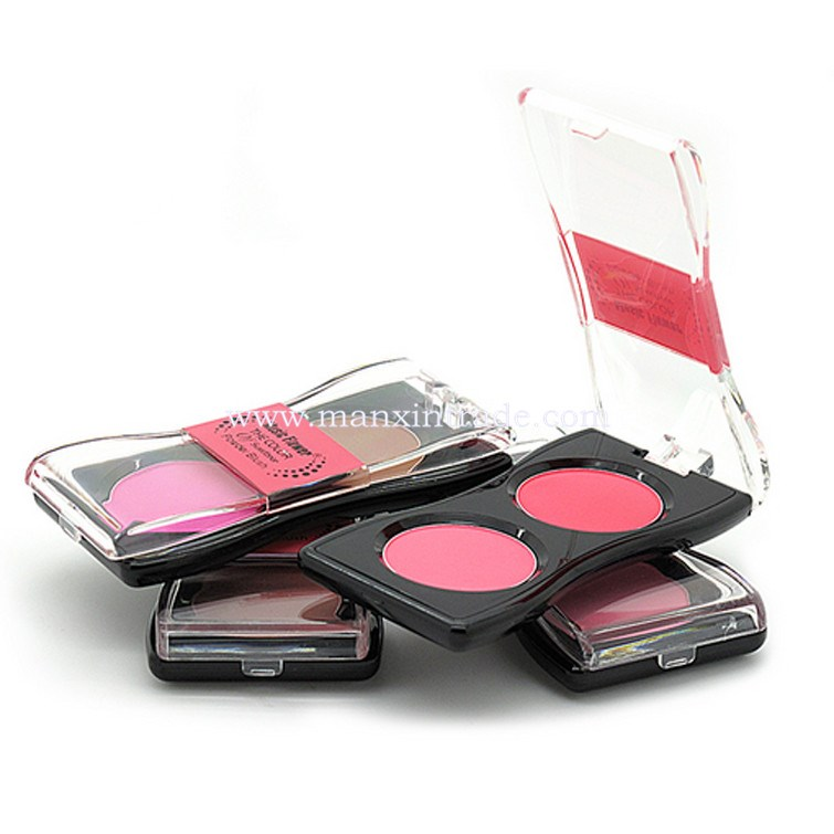 2 Colors Blush Powder Palette Makeup Tool Beauty Ultra Soft Smooth Natural Cosmetics powder Blush
