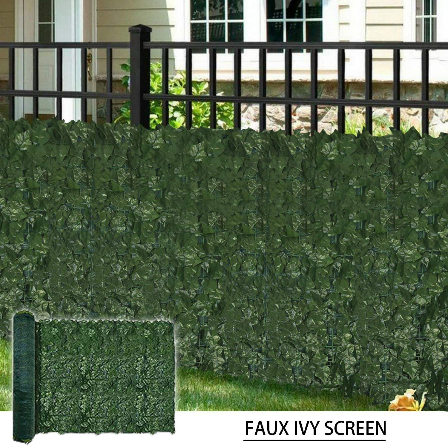 Get Quotations Coarbor 39 X136 Artificial Faux Ivy Leaf Privacy Fence Screen With Mesh