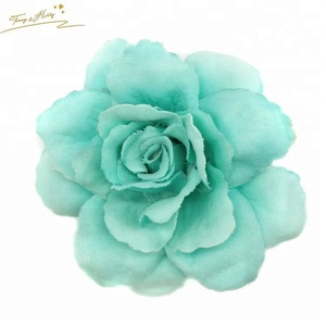 Hot Selling Chiffon Flower Pure Color Hair Claw Clips For Cute Kids