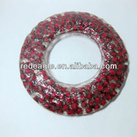 EA0007W clear polyresin red cherry round shape hanging home decoration wall decor