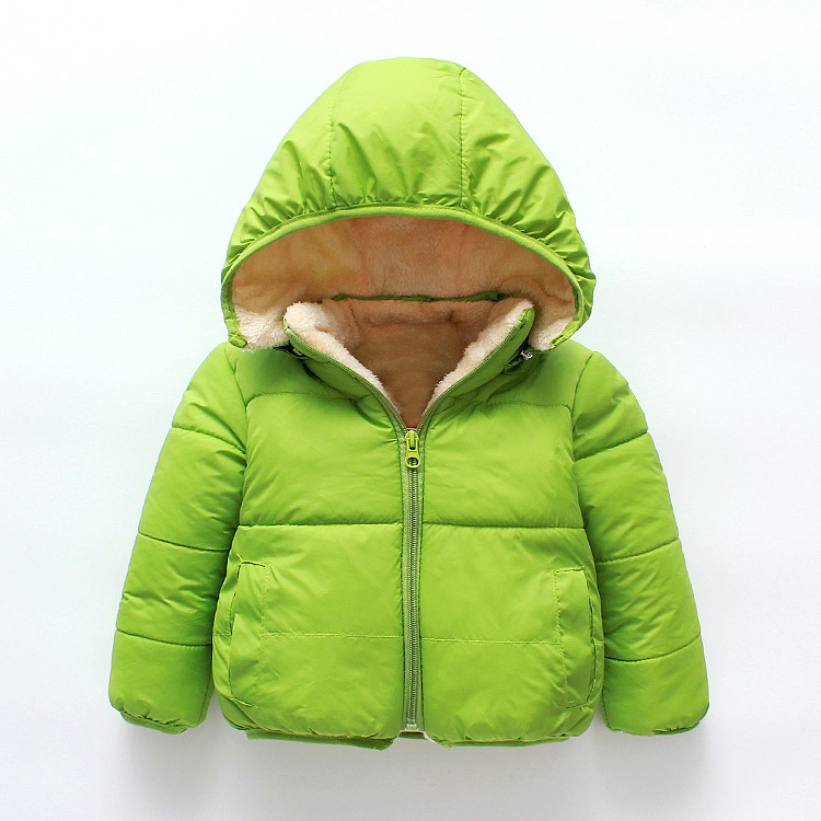 2020 Winter long sleeve warm newborn baby hooded coat infant baby thick cotton children jacket
