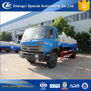 Dongfeng waste water suction truck , waste water suction height 6m tanker truck, waste water tank truck