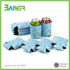 Promotional 3mm Colorful Design Foldable Beer neoprene can cooler