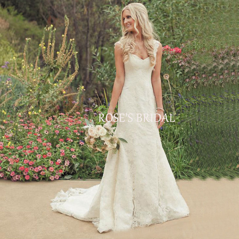 Simple Elegant Country Style Wedding Dresses With Lace: Aliexpress.com : Buy Country Western Eden Wedding Dresses