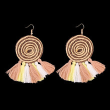 Dvacaman Brand Multicolor Tassel Earrings Women Wedding Party Bridal Statement Jewelry Charm Drop Earrings Cheap Wholesale II17