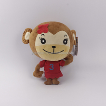 Quick Lead Time 100% Polyester Comfortable Soft Girl Toy Plush Monkey Stuffed Animal