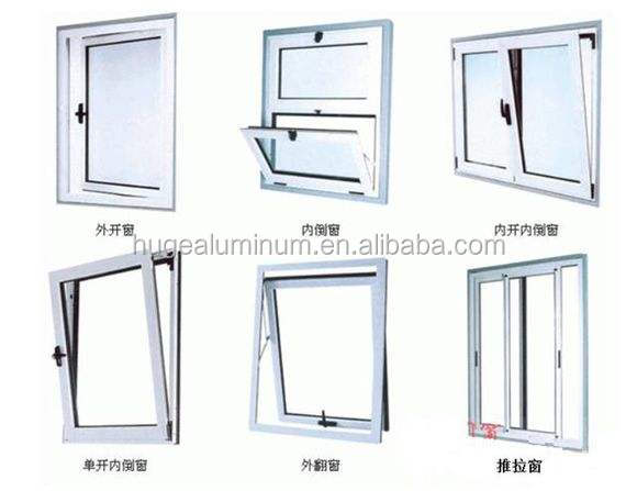 white shop windows aluminum fixed windows