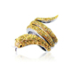 Yellow crystal dazzling silver gold ring designs for kids