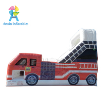High quality commercial grade Fire truck inflatable bounce house