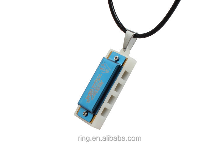 Anime Hatsune Miku Small Harmonica Necklace Fashion Inspired Boys Girls Alloy Pendant Necklace Men Women Christmas Gift