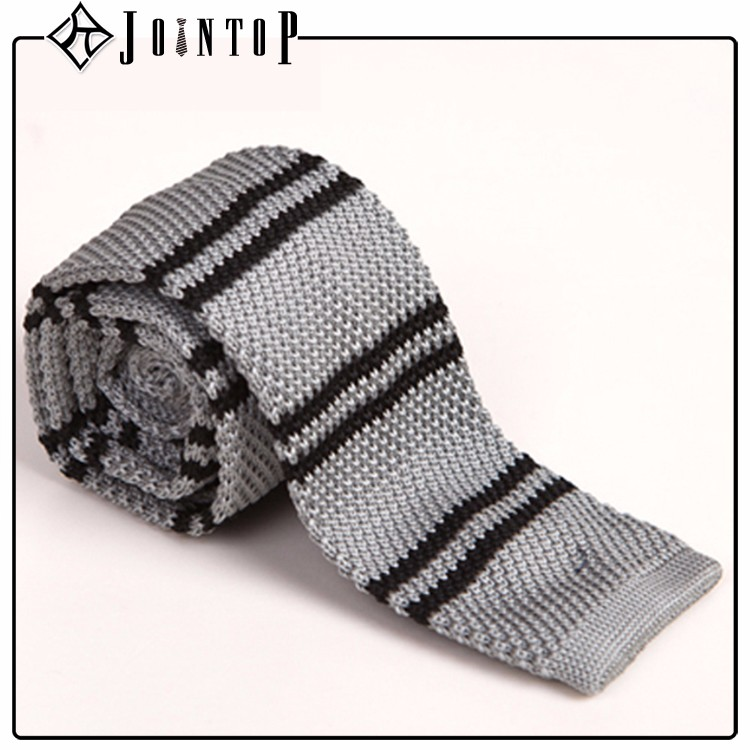 high quality stock low moq 10 knit stripe necktie